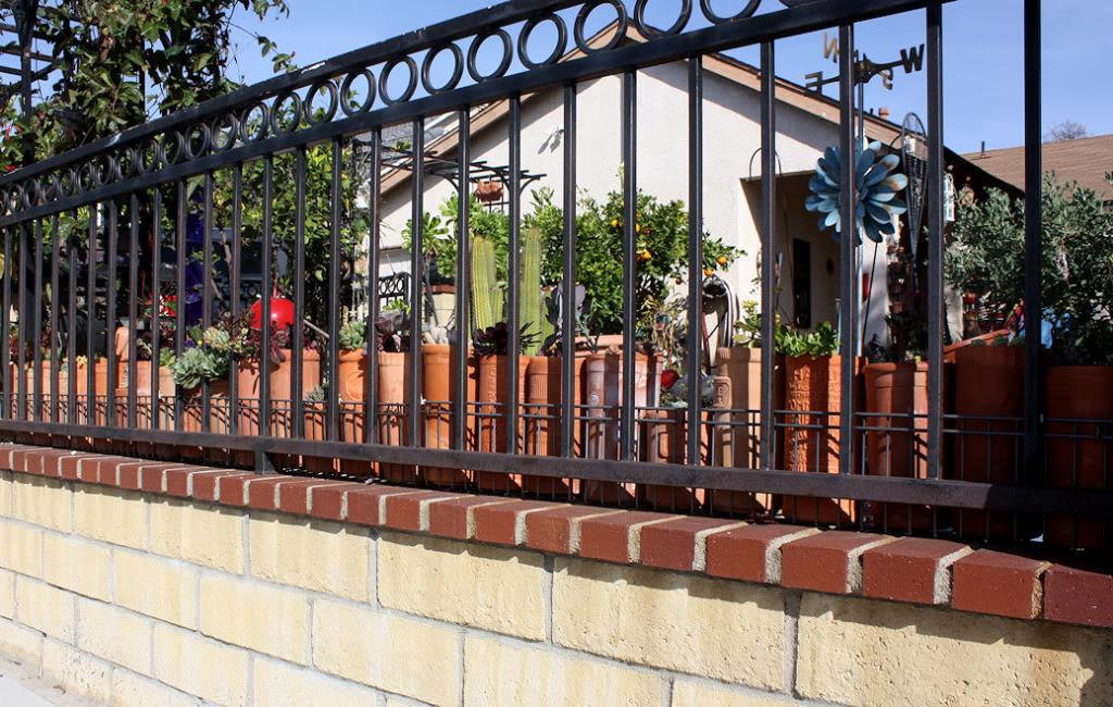 Grille Cloture En Fer Forge Exterieur Jardin Villa Maison
