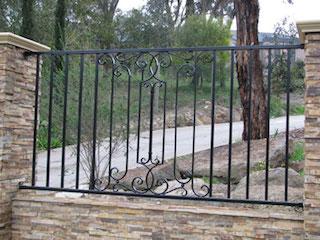 clôture, en, fer, forgé, extérieur, jardin, villa, maison, pas, cher ...