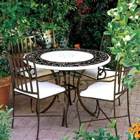 Salon de jardin en fer forge en promotion pas cher decoration jardin maroc - Mobilier de jardin fer forge ancien ...