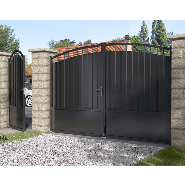 Fabricant, portail, portillon, grille, clôture, en, fer, forgé ...