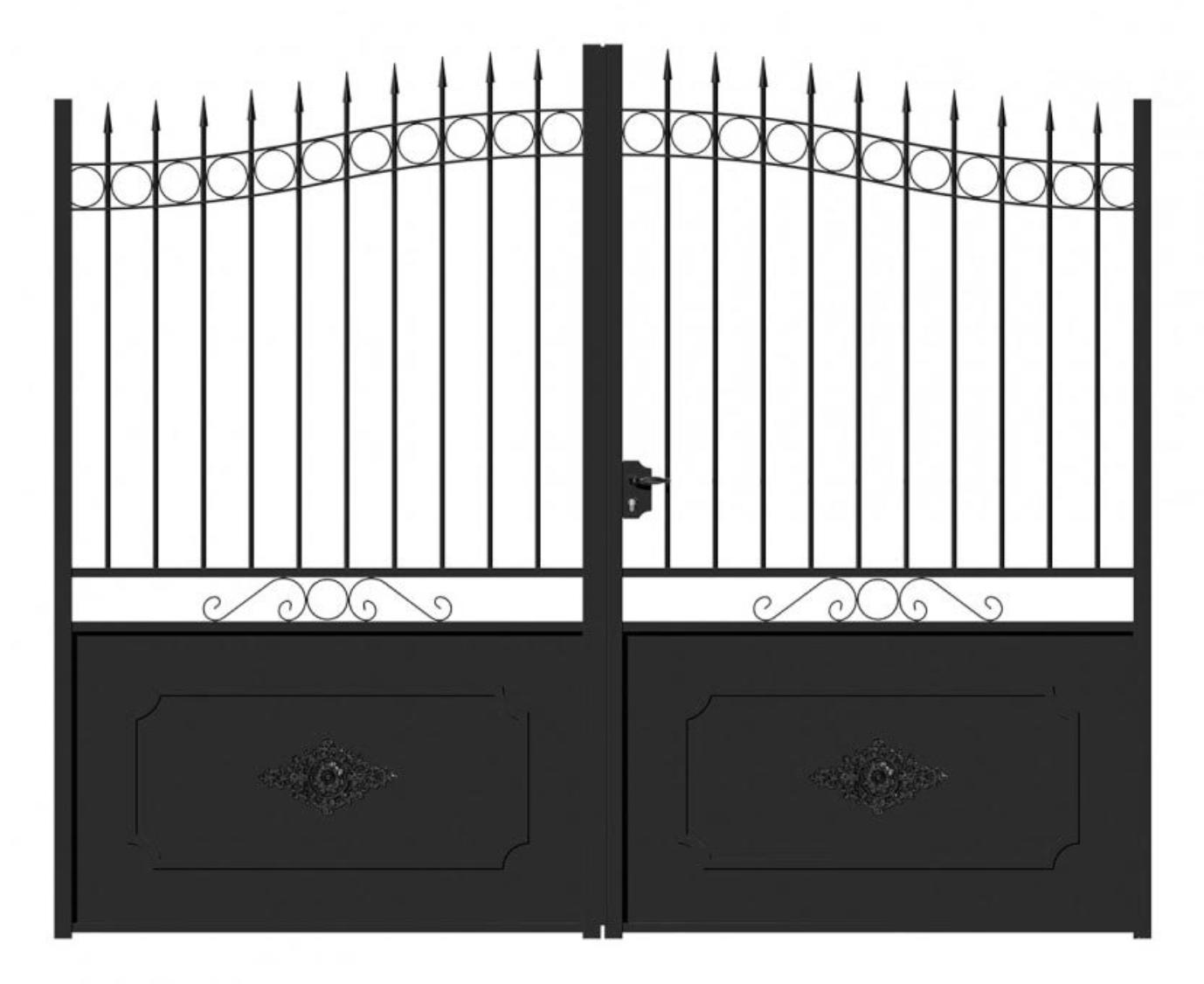 Promotion portail porte de jardin en fer forgé | Cabasvanessabruno
