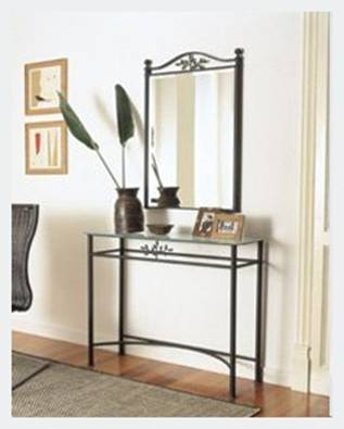 miroir commode en fer forg espejo conveniente en hierro forjado convenient mirror in wrought. Black Bedroom Furniture Sets. Home Design Ideas