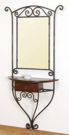 exposition miroir en fer forg. Black Bedroom Furniture Sets. Home Design Ideas