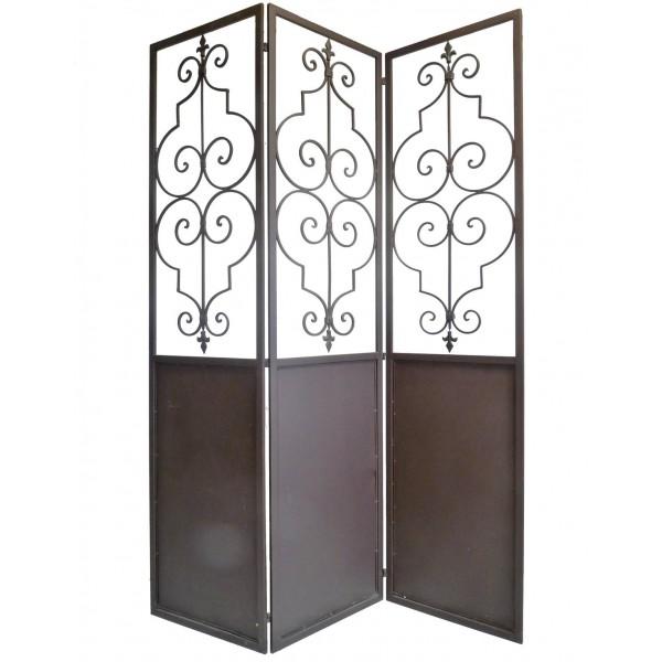 paravent en fer forg pas cher promotion d coration meubles mobilier maison et. Black Bedroom Furniture Sets. Home Design Ideas