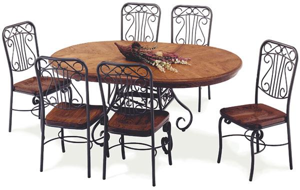 Table de salle a manger en fer forg sala da pranzo tavolo for Salle a manger en fer forge