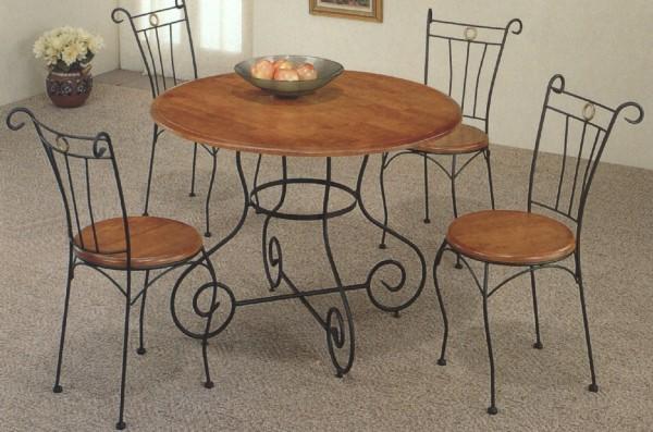 Table de salle a manger en fer forg sala da pranzo tavolo for Salle a manger fer forge blanc